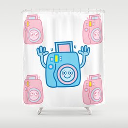 We are watching you. Say Cheese!!! Shower Curtain