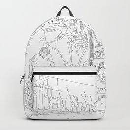 A Shop in Miami Wynwood - Line Art Backpack