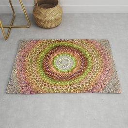 Zen - Gold & Orange Mandala Rug