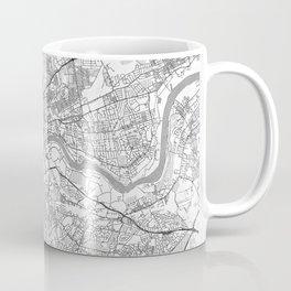 Newcastle upon Tyne Map Line Coffee Mug