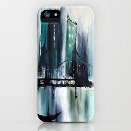 Blue Cityscape iPhone Case