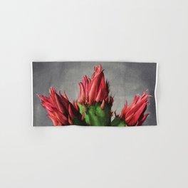 Blooming Opuntia Cactus Flower Hand & Bath Towel