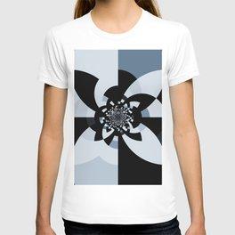 Steel Blue Black Kaleidoscope T-shirt