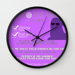 Hero for Hire- Kate Bishop Wall Clock