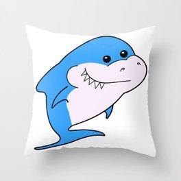 Baby shark birthday. Brother shark. Baby shark party. Blue shark. Shark boy Throw Pillow