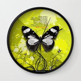 Philippians 4-8 Whatsoever Things Wall Clock