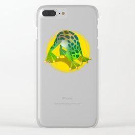 Yoga Downward Facing Frog Clear iPhone Case