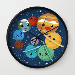 Out Of This World Cuteness (dark) Wall Clock