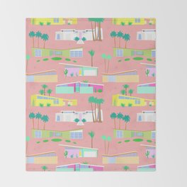 Palm Springs Houses Throw Blanket