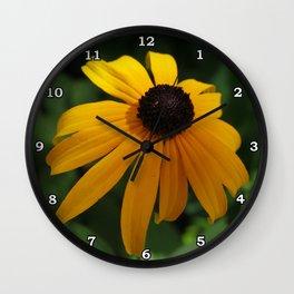 Golden glow of a black-eyed Susan Wall Clock