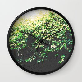 Vines Overpowering Fence Wall Clock