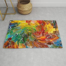 Upright Stained Twist Rug