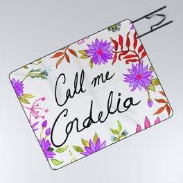 Call Me Cordelia - Purple Flowers Picnic Blanket