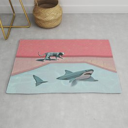 Shark and Kitty Rug