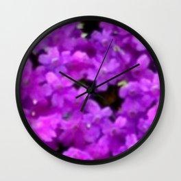Expressive Purple Wildflowers Wall Clock