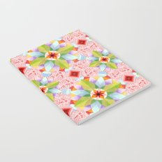 Pink Paisley Flowers Notebook