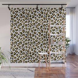 Leopard Print - Mustard Yellow Wall Mural