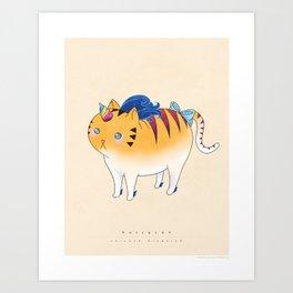 Buffycat: Unicorn Disguise Art Print