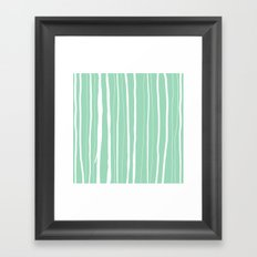 Vertical Living Mint Framed Art Print