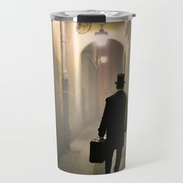 Victorian man with top hat Travel Mug