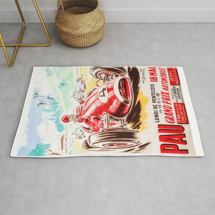 Grand Prix Pau Vintage Poster Car T