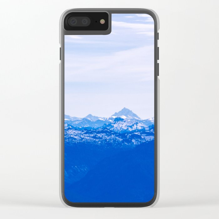 blue nature Clear iPhone Case