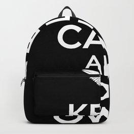 Keep Calm Owl Backpack