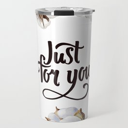 Cotton Flower Frame 02 Travel Mug