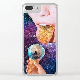 Disco Ice Cream Clear iPhone Case