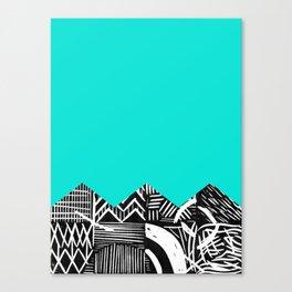 Sky lino bright Canvas Print