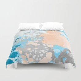 Sheyn - Modern abstract print in summer colors fresh beach design abstract painting decor Duvet Cover