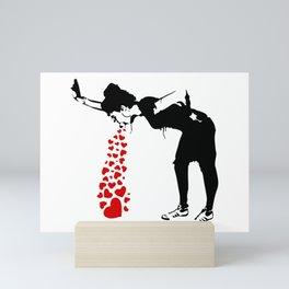 Lovesick - Banksy, Streetart Street Art, Grafitti, Artwork, Design For Men, Women, Kids Mini Art Print