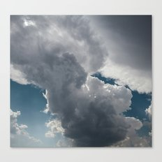 Clouds in the blue sky Canvas Print