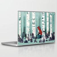 spring Laptop & iPad Skins featuring The Birches by littleclyde