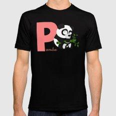 p for panda MEDIUM Mens Fitted Tee Black