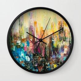 Evening city Wall Clock