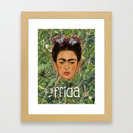 Frida Plantas 001 Framed Art Print
