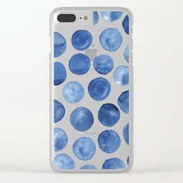 Blue dots Clear iPhone Case