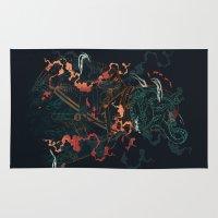 diver Area & Throw Rugs featuring Space Diver by dan elijah g. fajardo