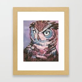 The Purple Owl Framed Art Print