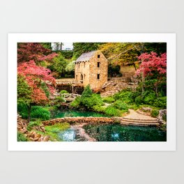 Afternoon at The Old Mill - North Little Rock Arkansas Art Print