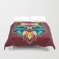 animals Duvet Covers featuring animals by mark ashkenazi