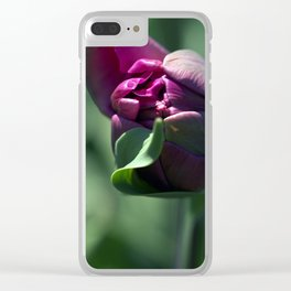 Opening Purple Tulip Clear iPhone Case