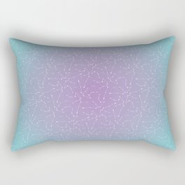 Aquarius Constellation Pattern Rectangular Pillow