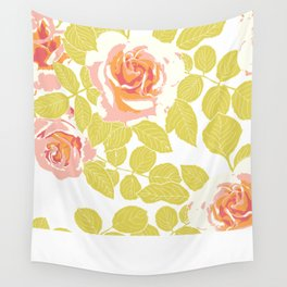 rose garden pink Wall Tapestry