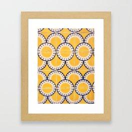 Portuguese Pattern Framed Art Print