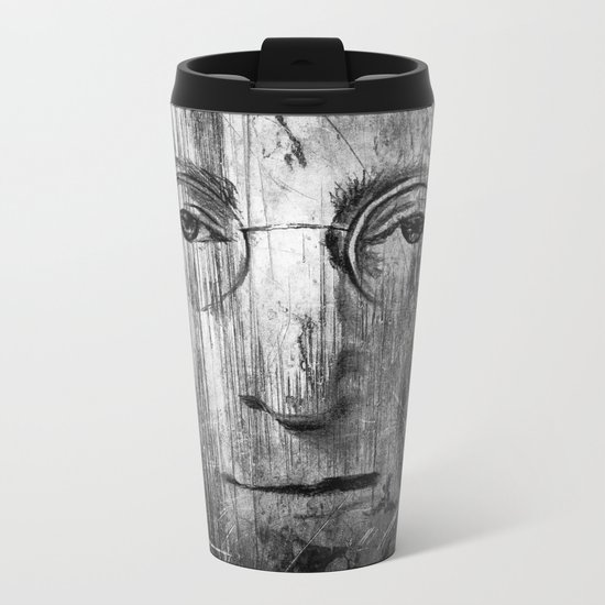 Jhon Lenon Metal Travel Mug