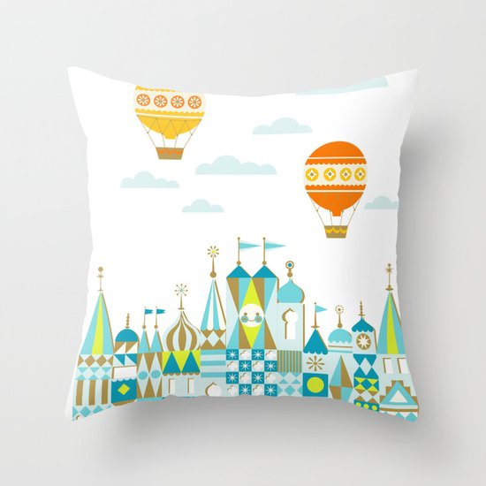 Small Magic white Throw Pillow