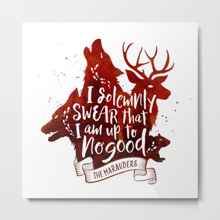 I solemnly swear - white Metal Print