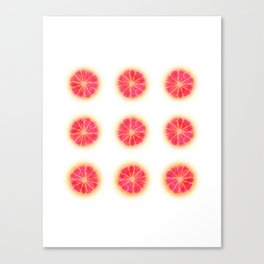 RUBY RED REPEAT Canvas Print